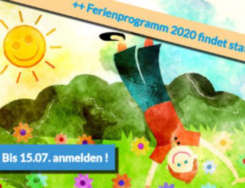 Ferienprogramm 2020 – jetzt bis 15.07. anmelden!